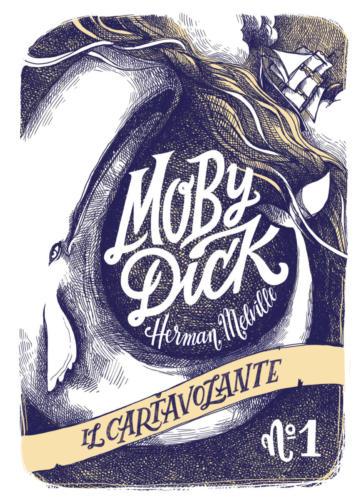 Copertina del cartavolante dedicato a moby Dick